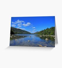 View of Jordan Pond Greeting Card