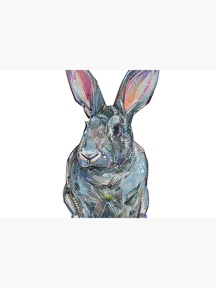 Giant Chinchilla Rabbit Painting - 2017 by gwennpaints