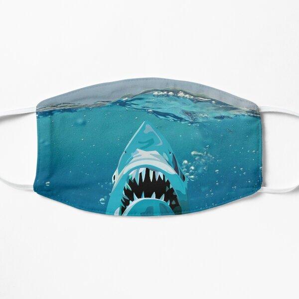Shark Attack - Ocean Background Flat Mask