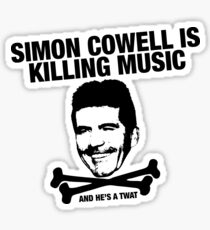 Simon Cowell Is Killing Music Sticker