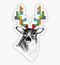 Tetris Deer Sticker