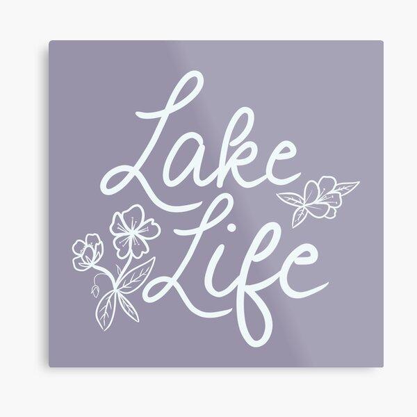 Lake Life (Purple) Metal Print