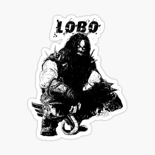 Silueta Lobo Pegatina