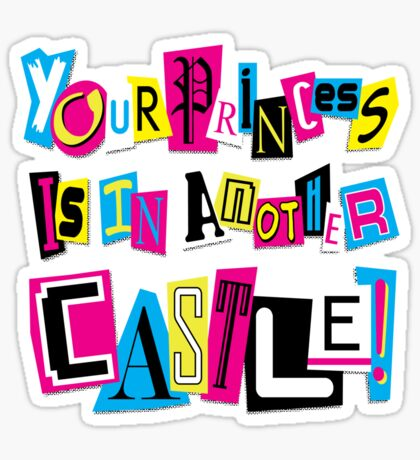 PRINCESS RANSOM NOTE Sticker