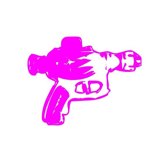 Alien Ray Gun - Pink by babydollchic