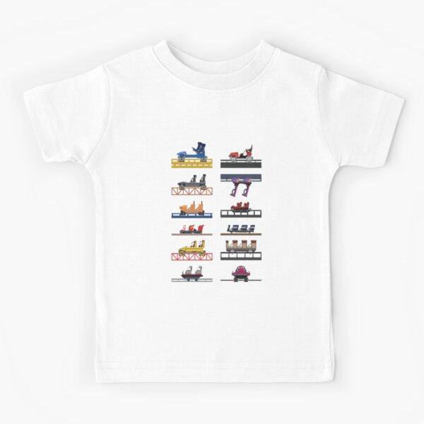 Hersheypark Coaster Cars Design Kids T-Shirt