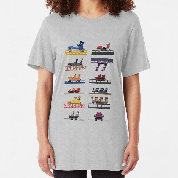 Hersheypark Coaster Cars Design Slim Fit T-Shirt
