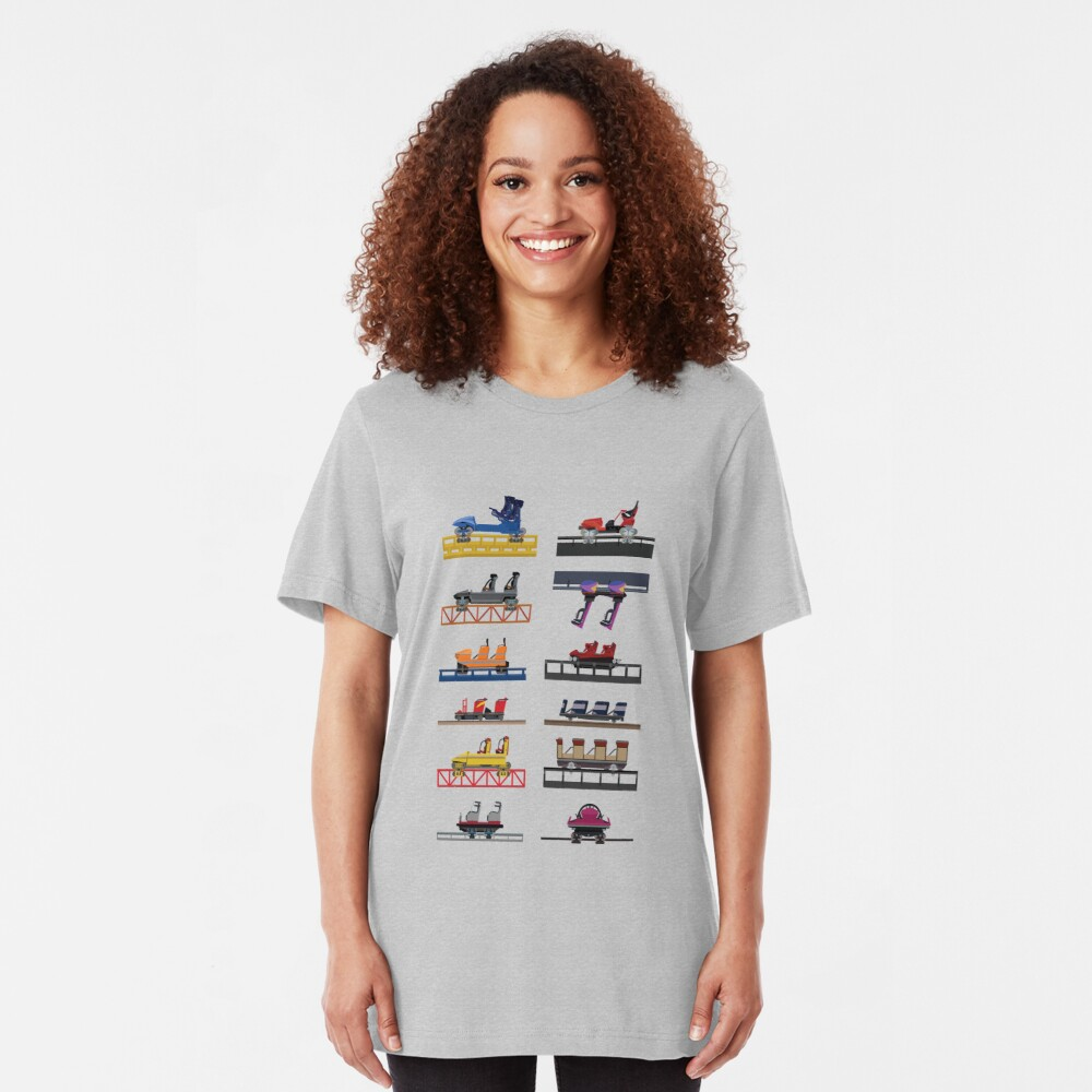 Hersheypark Coaster Cars Design Slim Fit T-Shirt