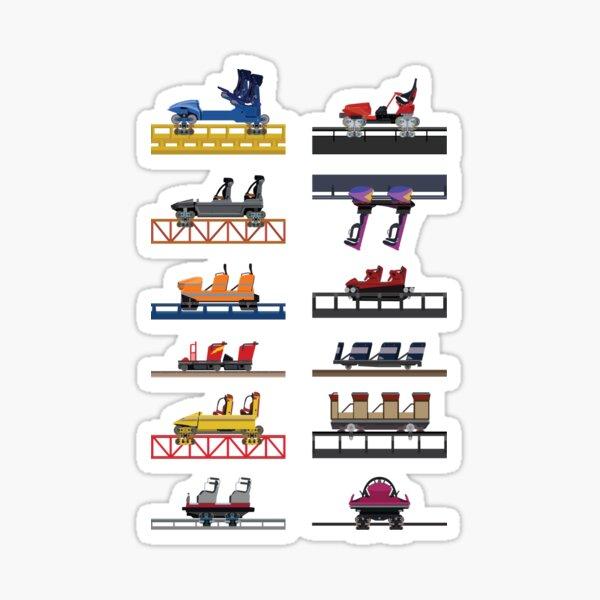 Hersheypark Coaster Cars Design Sticker
