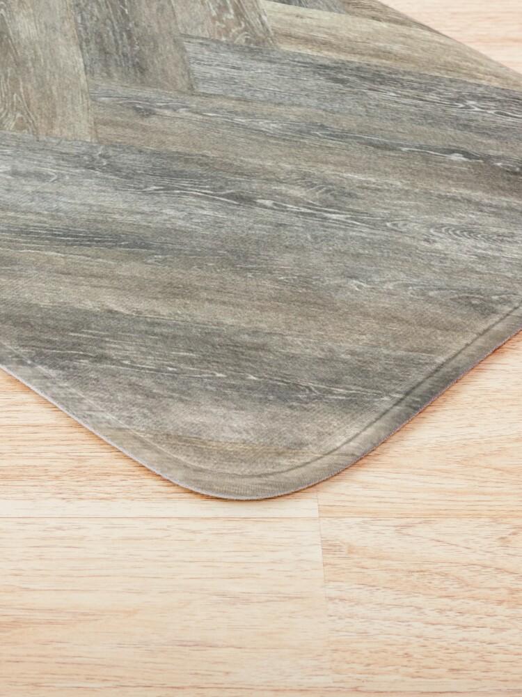 Alternate view of contemporary Caramel brown grey Beige farmhouse barn wood Bath Mat