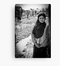 Afghan Refugee Girl 3 Canvas Print