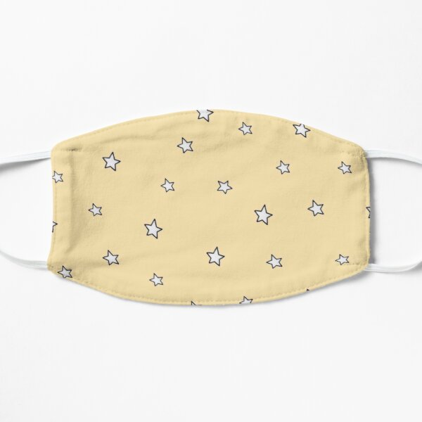 VSCO cute yellow stars prints Mask