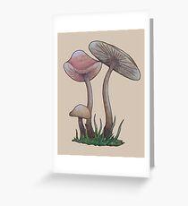 Simple Mushrooms  Greeting Card