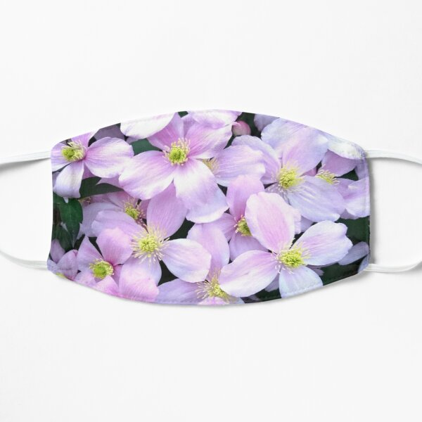 Pink clematis flowers Mask