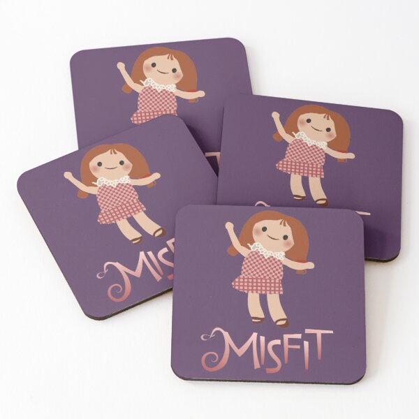 Misfits - A Dolly for Sue Coasters (Set of 4)