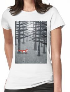 The Fox and the Forest Womens Fitted T-Shirt