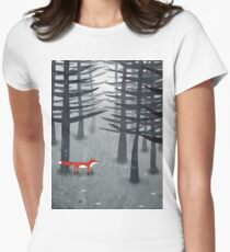 The Fox and the Forest Women's Fitted T-Shirt