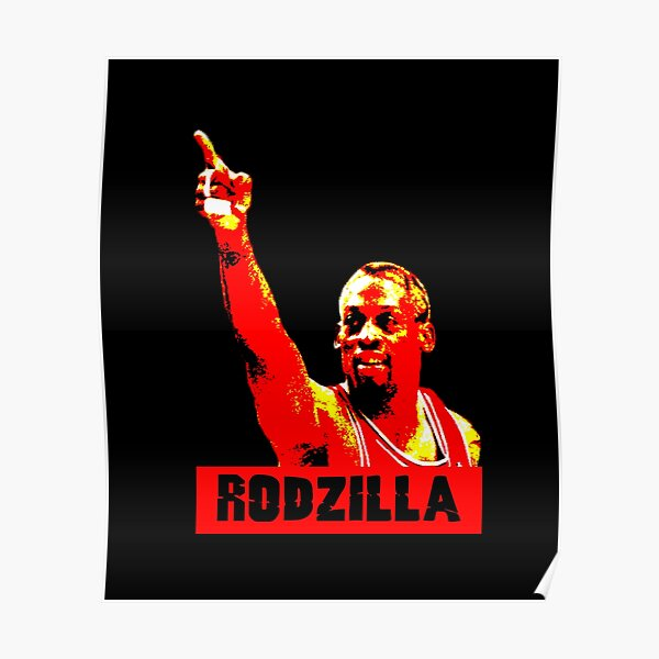 Rodzilla The Worm Retro Poster