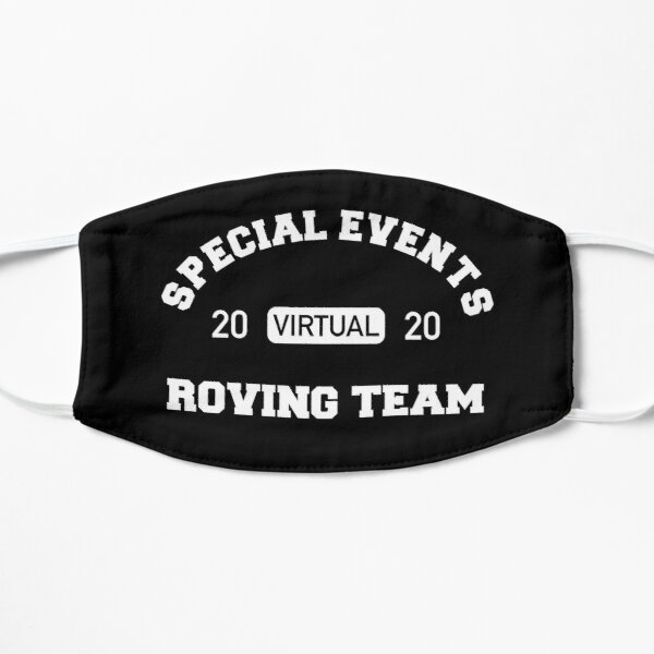 Special Event - Roving Team | Virtual (white) Flat Mask