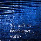 He leads me beside quiet waters iPhone Case by Jeff Johannsen
