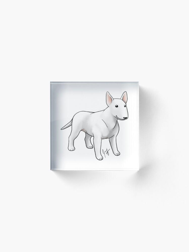 Alternate view of Bull Terrier - White Acrylic Block
