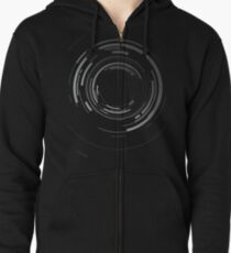 Abstract lens Zipped Hoodie