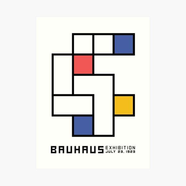 Cartel de diseño de la exposición Bauhaus 1923 Lámina artística