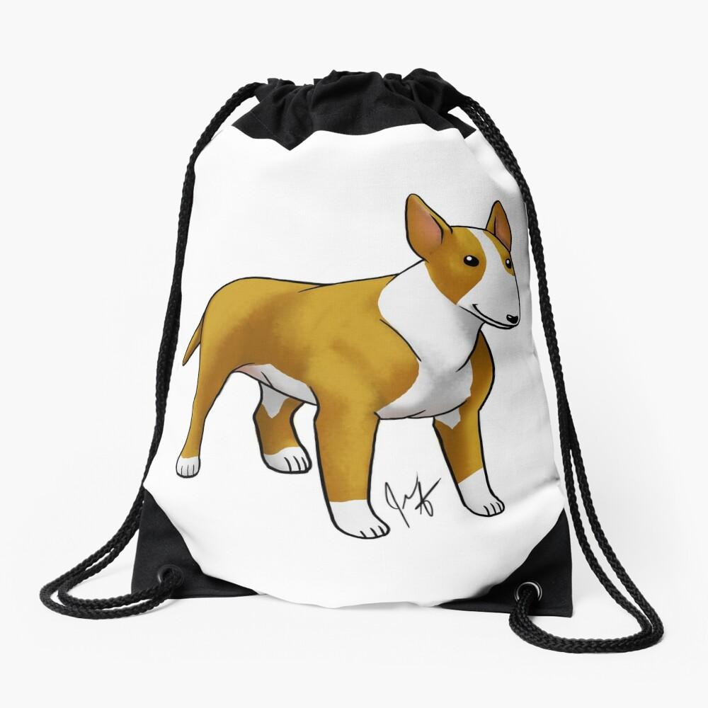 Bull Terrier - White Drawstring Bag