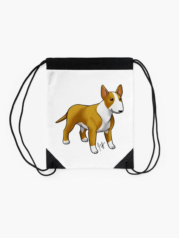Alternate view of Bull Terrier - White Drawstring Bag