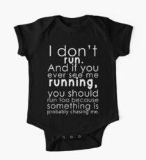 I don't run One Piece - Short Sleeve