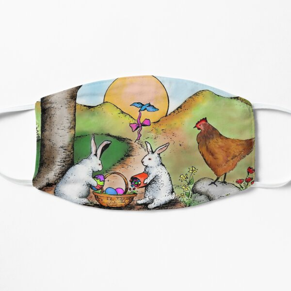 Easter Basket Vintage Illustration Mask