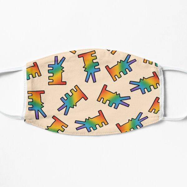 Rainbow Dog Flat Mask