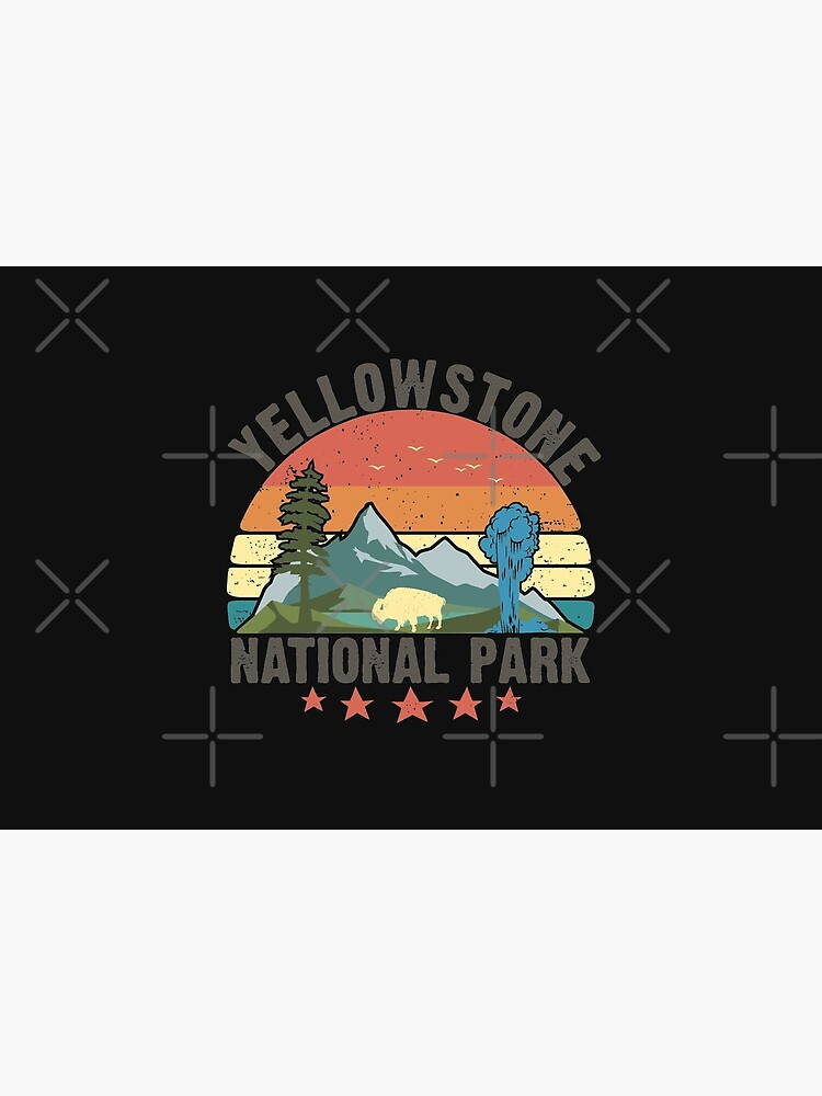 Yellowstone National Park Wyoming mountains landscape volcano geyser by alenaz
