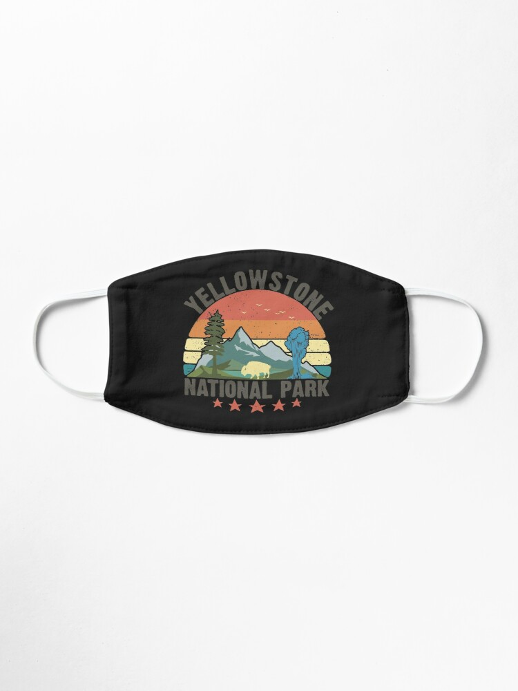 Alternate view of Yellowstone National Park Wyoming mountains landscape volcano geyser Mask