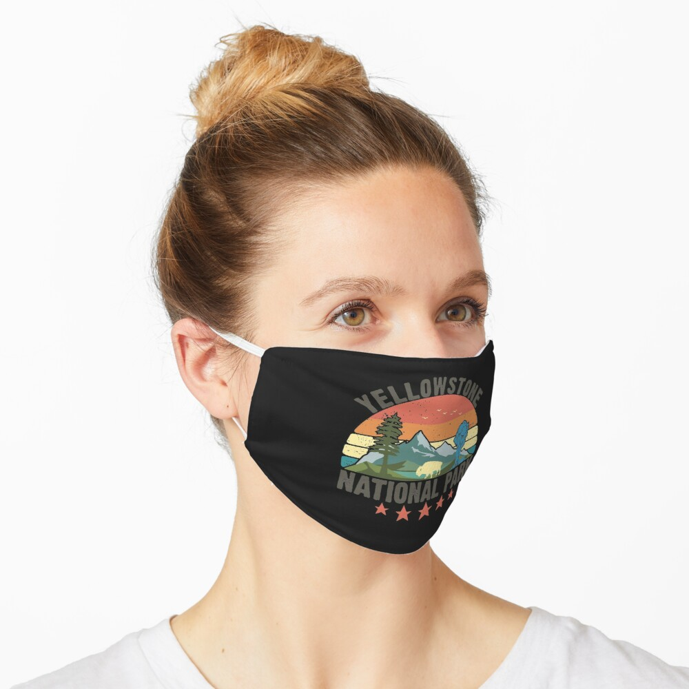 Yellowstone National Park Wyoming mountains landscape volcano geyser Mask