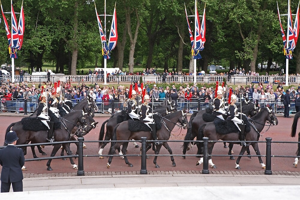 Horses at Trooping The Colour by Keith Larby