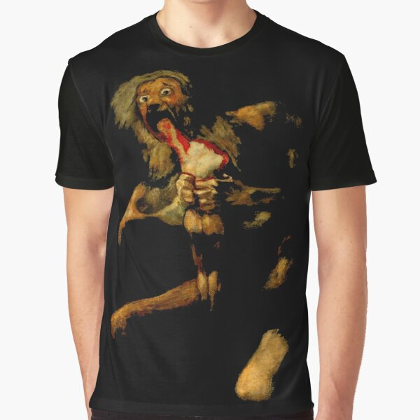 Saturn Devouring His Son Classic Painting by Francisco Goya goth art lover gift Graphic T-Shirt