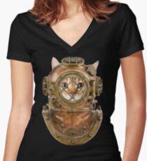 DiverCat Women's Fitted V-Neck T-Shirt