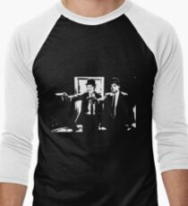 Pulp Fiction Laurel and Hardy Men's Baseball ¾ T-Shirt