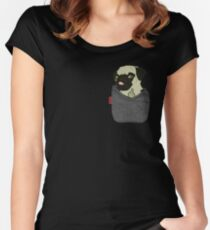Pug You Pocket Women's Fitted Scoop T-Shirt