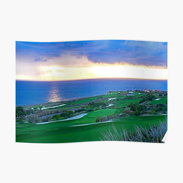 Golf Course Next to the Ocean Poster