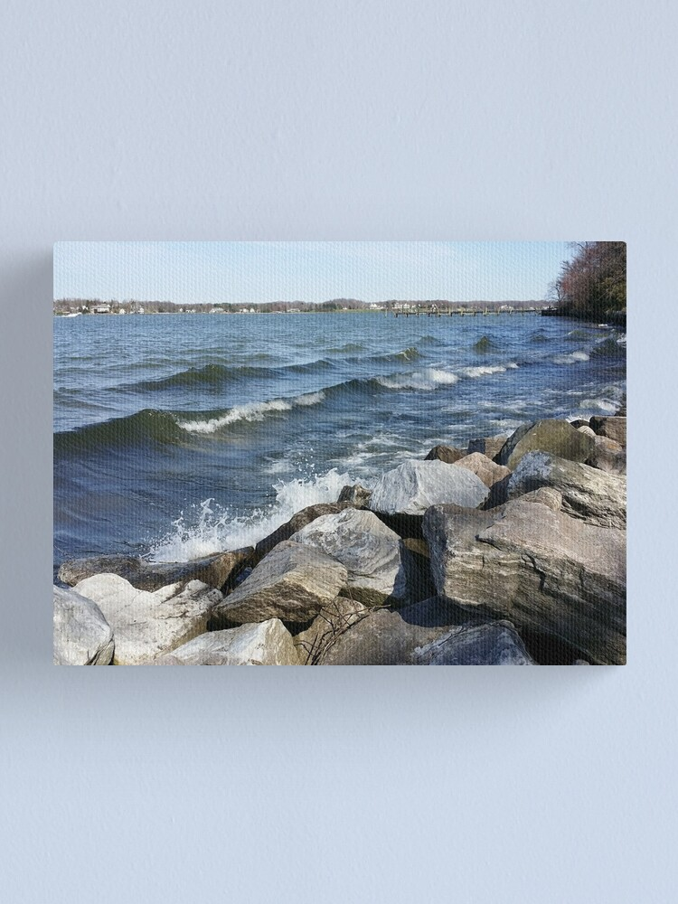 Alternate view of South River on the Rocks, Version 6 Canvas Print