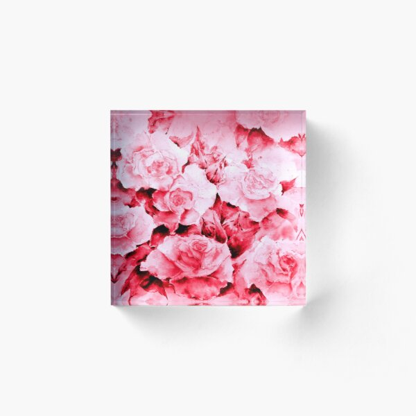 Love Roses Acrylic Block