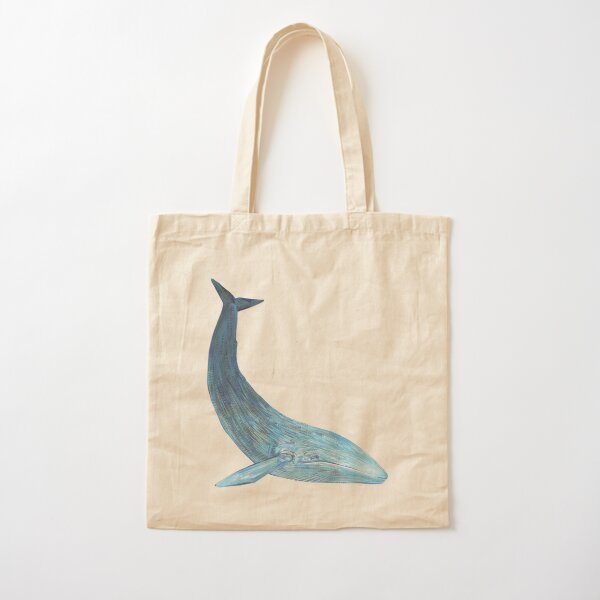Blue Whale Painting - 2012 Cotton Tote Bag