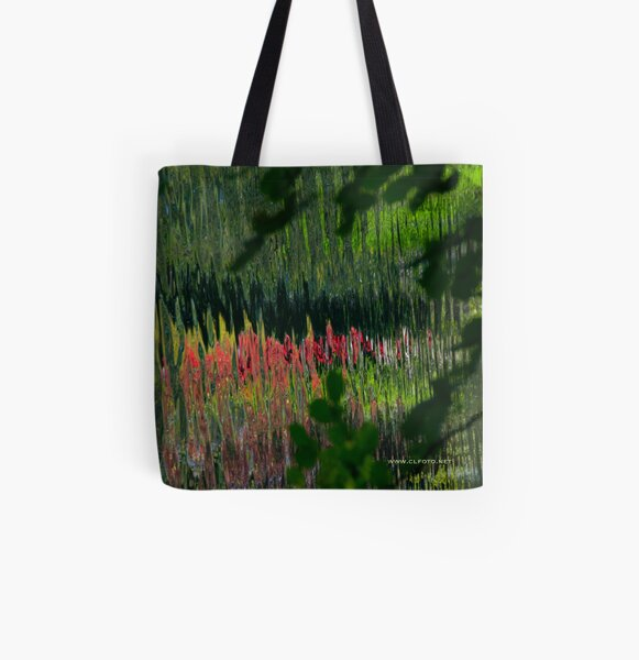 Study in Pink and Green All Over Print Tote Bag