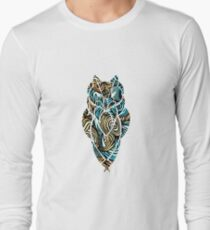 Owl Mosaic Blue / Orange  T-Shirt