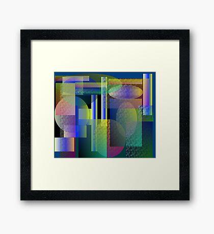 Dense Neighborhood Framed Print
