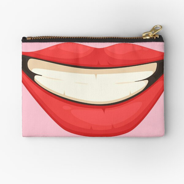 HAPPY WOMEN MOUTH face mask cool desings. Zipper Pouch