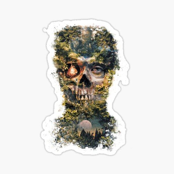 The Gatekeeper Dark Surrealism Art Sticker