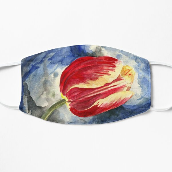 Tulip on Blue Mask